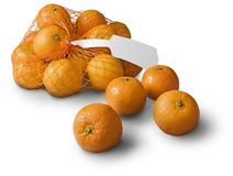 Tangerines, clementines on white Royalty Free Stock Photo
