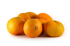Tangerines close-up on a white background Royalty Free Stock Photos