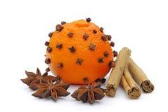 Tangerines-clove Stock Photo