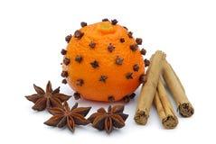 Tangerines-cravo-da-índia Imagens de Stock