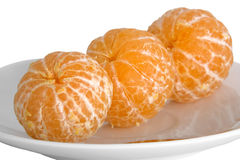 Tangerines descascados Fotos de Stock Royalty Free