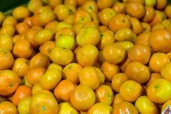 Tangerines on display Stock Photo