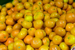 Tangerines on display Stock Photography