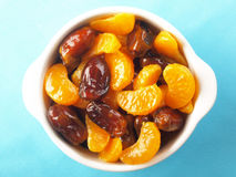 tangerines för datumfruktsallad Royaltyfri Foto