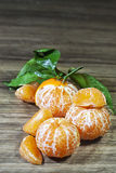 Tangerines. Fresh ripe tangerines without peel Stock Image