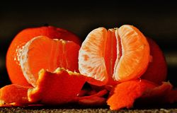Tangerines, Fruit, Citrus Fruit Stock Photo