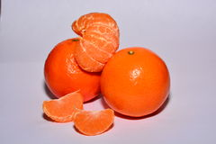 Tangerines. Image of oranges on a white background Stock Photo