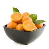 Tangerines In A Bowl Stock Photo