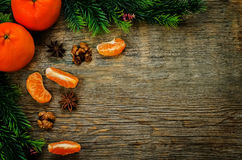 Tangerines and ingredients for baking Stock Photos
