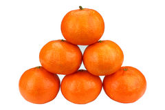 Tangerines, isolados Imagens de Stock Royalty Free