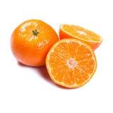 Tangerines isolados no branco Imagem de Stock