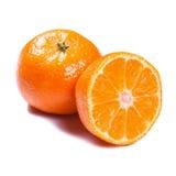 Tangerines isolados no branco Fotos de Stock