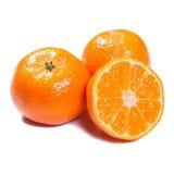 Tangerines isolados no branco Fotografia de Stock Royalty Free