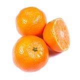 Tangerines isolados no branco Fotos de Stock Royalty Free