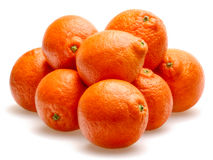 Tangerines isolated against white background Stock Image