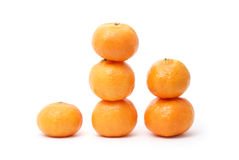 Tangerines isolated on white. Sweet yellow tangerines isolated on white stock photos