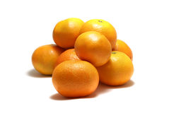 Tangerines isolated on white Royalty Free Stock Photo