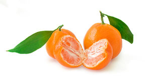 Tangerines isolated on white background Royalty Free Stock Photo