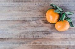Tangerines jaskrawy pomarańczowy śnieg Zdjęcie Royalty Free