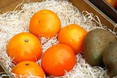 Tangerines and kiwi Stock Image
