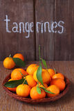 Tangerines with leaflets Stock Images