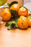 Tangerines na stole Obraz Stock