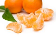 Tangerines no branco Imagem de Stock Royalty Free