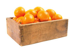 Tangerines in an old box Stock Image