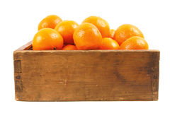 Tangerines in an old box Royalty Free Stock Photography