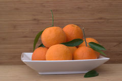 Tangerines on the plate. Royalty Free Stock Images
