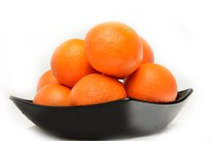 Tangerines in plate Royalty Free Stock Image