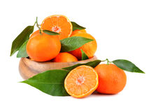 Tangerines in plate Stock Photos