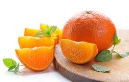 Tangerines.Ripe, juicy  citrus fruits. Stock Images