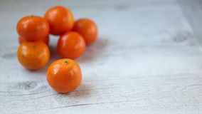 Tangerines stock footage