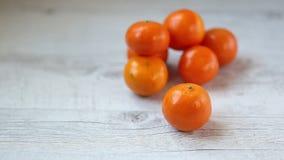 Tangerines stock video