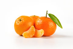 Tangerines with separated segments Stock Images