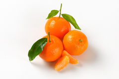 Tangerines with separated segments Royalty Free Stock Image