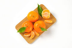 Tangerines with separated segments Royalty Free Stock Images