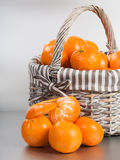 Tangerines on Silver Royalty Free Stock Photos