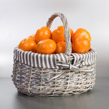 Tangerines on Silver Royalty Free Stock Image