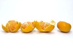 Tangerines and skin inline Royalty Free Stock Images