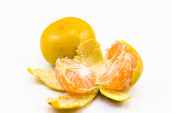 Tangerines and slices Royalty Free Stock Photography