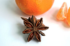 Tangerines and Star Anise Stock Photos