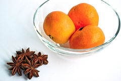 Tangerines and Star Anise Stock Photography