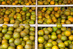 Tangerines in the store Royalty Free Stock Photos