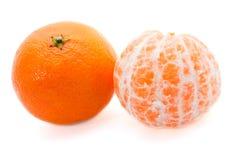 tangerines två Fotografering för Bildbyråer