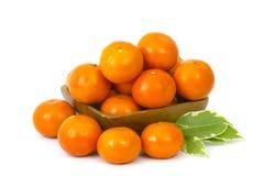 Tangerines w pucharze Zdjęcie Stock