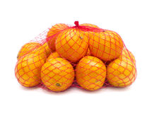 Tangerines w siatce Zdjęcia Royalty Free