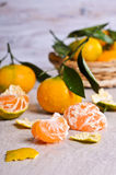 Tangerines with water drops Royalty Free Stock Photos