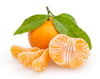 Tangerines  on white Royalty Free Stock Photography